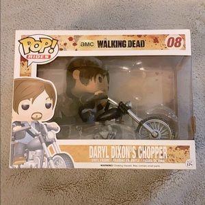 NIB Pop Vinyl The Walking Dead Daryl Dixon Chopper